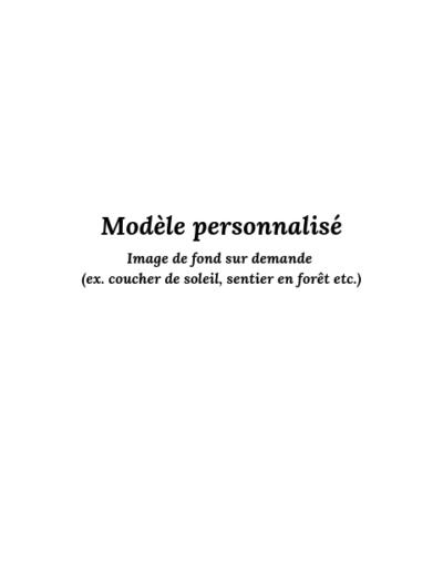 Modèle personnalisé